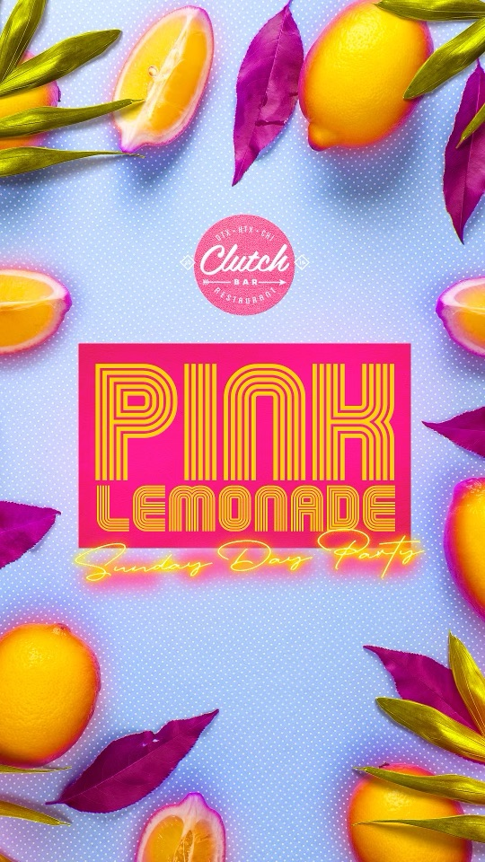 Pink Lemonade Sunday Day Party